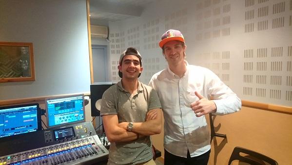 Axel Alletru et son ami Ryad pour leurs podcasts et jingles